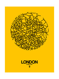 London Street Map Yellow Posters by  NaxArt