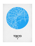 Tokyo Street Map Blue Poster by  NaxArt
