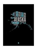 Alaska Word Cloud 1 Poster by  NaxArt