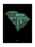 South Carolina Word Cloud 2 Posters by  NaxArt