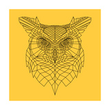 Yellow Owl Mesh Posters by Lisa Kroll