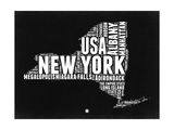 New York Black and White Map Art by  NaxArt