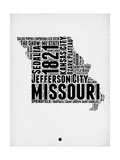 Missouri Word Cloud 2 Poster by  NaxArt