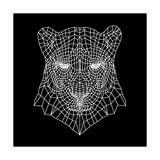 Panther Head Black Mesh Premium Giclee Print by Lisa Kroll