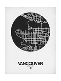 Vancouver Street Map Black on White Prints by  NaxArt
