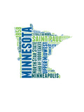 Minnesota Word Cloud Map Posters by  NaxArt