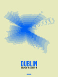 Dublin Radiant Map 1 Plastic Sign by  NaxArt