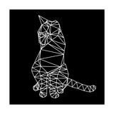 Smart Cat Polygon Posters by Lisa Kroll