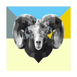 Party Ram Poster by Lisa Kroll