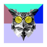Owl in Yellow Glasses Prints by Lisa Kroll