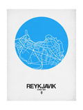 Reykjavik Street Map Blue Posters by  NaxArt