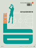 Basketball Poster Plastic Sign by  NaxArt