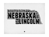 Nebraska Word Cloud 2 Poster by  NaxArt
