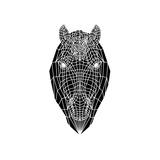 Horse Head Mesh Prints by Lisa Kroll