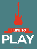 I Like to Play 7 Plastic Sign by  NaxArt