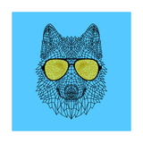 Woolf in Yellow Glasses Posters by Lisa Kroll