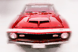 1968 Chevy Camaro Front End Watercolor Plastic Sign by  NaxArt