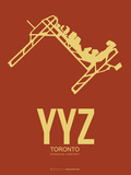 Yyz Toronto Poster 1 Plastic Sign by  NaxArt
