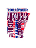 Arkansas Word Cloud Map Prints by  NaxArt