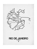 Rio de Janeiro Street Map White Prints by  NaxArt