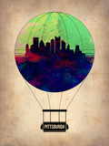 Pittsburgh Air Balloon Plastic Sign by  NaxArt