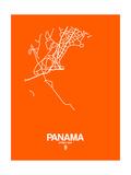Panama Street Map Orange Posters by  NaxArt