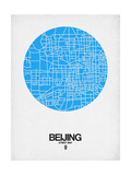 Beijing Street Map Blue Prints by  NaxArt