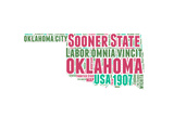 Oklahoma Word Cloud Map Print by  NaxArt