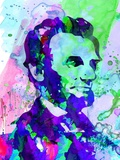 Lincoln Watercolor Plastic Sign by Anna Malkin