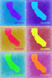 California Pop Art Map 2 Plastic Sign by  NaxArt