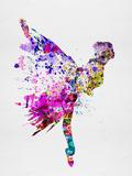 Ballerina on Stage Watercolor 3 Cartel de plástico por Irina March
