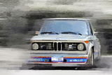 1974 BMW 2002 Turbo Watercolor Plastic Sign by  NaxArt