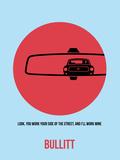 Bullitt Poster 1 Plastic Sign by Anna Malkin