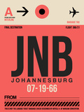 JNB Johannesburg Luggage Tag 2 Plastic Sign by  NaxArt
