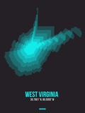 West Virginia Radiant Map 6 Plastic Sign by  NaxArt