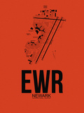 EWR Newark Airport Orange Plastic Sign by  NaxArt
