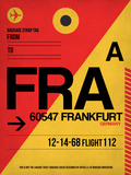 FRA Frankfurt Luggage Tag 2 Plastic Sign by  NaxArt
