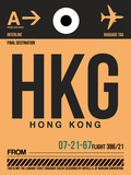 HKG Hog Kong Luggage Tag 2 Plastic Sign by  NaxArt