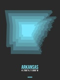 Arkansas Radiant Map 4 Plastic Sign by  NaxArt