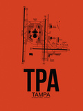TPA Tampa Airport Orange Plastic Sign by  NaxArt