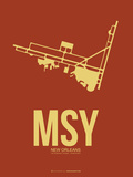 Msy New Orleans Poster 1 Plastic Sign by  NaxArt