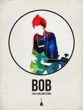 Bob Watercolor Plastskilt av David Brodsky