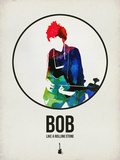 Bob Watercolor Plastic Sign by David Brodsky