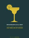 Yellow Margarita Plastic Sign by  NaxArt