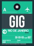 GIG Rio De Janeiro Luggage Tag 1 Plastic Sign by  NaxArt