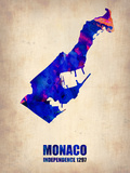 Monaco Watercolor Poster Plastic Sign by  NaxArt