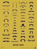 Mustache Library Poster Znaki plastikowe autor NaxArt