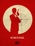 James Poster Red 2 Plastskilt av Anna Malkin
