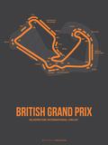 British Grand Prix 3 Signe en plastique rigide par  NaxArt