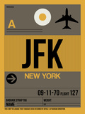 JFK New York Luggage Tag 3 Plastic Sign by  NaxArt